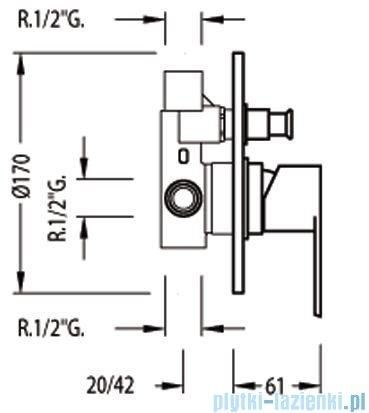 Tres M-Tres Bateria podtynkowa wannowo-natryskowa kolor chrom 017.180.12