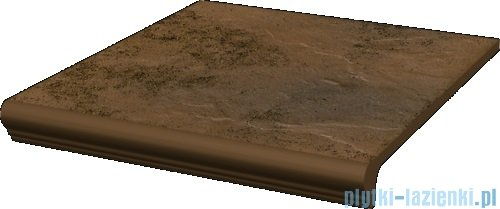 Paradyż Semir beige klinkier stopnica prosta z kapinosem 30x33