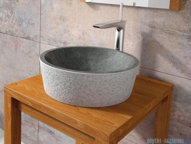 Bathco umywalka kamienna nablatowa Dual Negro 40,5x130 cm 00308