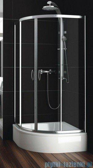 Aquaform Nigra kabina prysznicowa półokrągła 80x80x185cm chrom szkło przejrzyste 100-091111P