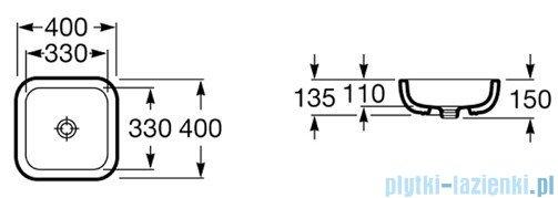 Roca Urban Umywalka nablatowa 40x40cm z grafiką London A32765L00U