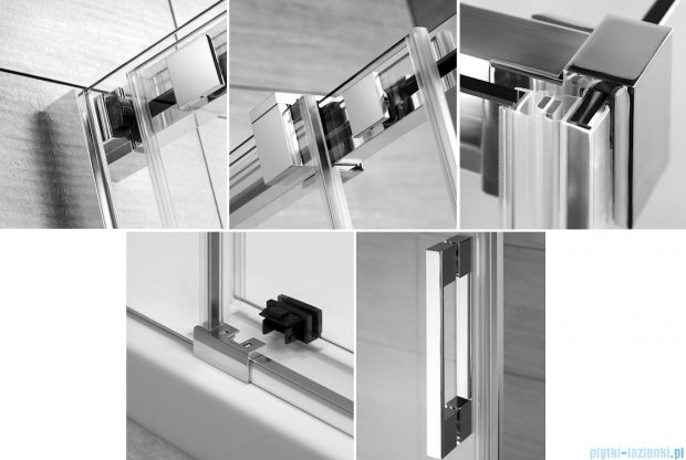 Radaway Espera KDD Kabina prysznicowa 80x120 szkło przejrzyste 380150-01L/380153-01R