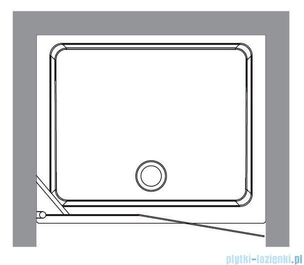 Kerasan Drzwi prysznicowe prawe, szkło przejrzyste profile złote 92x180 Retro 9139T3