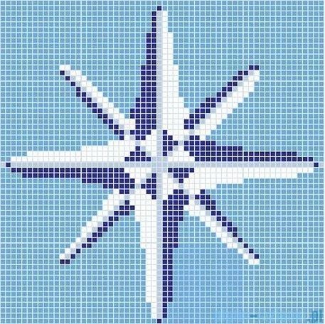 Dunin Q design mozaika szklana wzór 131x131 compas 2