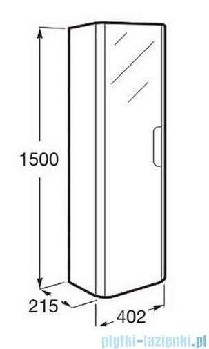 Roca Dama-n Kolumna z 4 półkami 150 cm Szary antracyt połysk A856956153