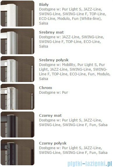 Sanswiss Melia MET3 Ścianka prawa z uchwytami i profilem 30-90/do 200cm pas satynowy MET3ADSM11051