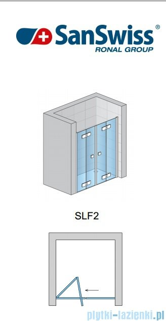 SanSwiss Swing Line F SLF2 Drzwi składane 160cm profil biały SLF216000407