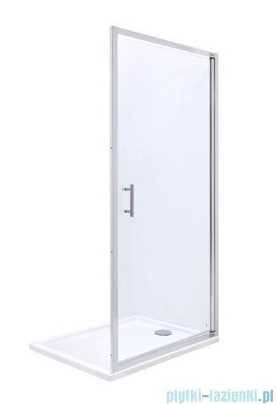 Roca Town Drzwi do wnęki prysznicowej 1częściowe 80 80x195,5cm szkło przezroczyste AMP170801M