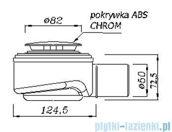 Syfon brodzikowy Speed Akces czyszczony od góry fi 50 chrom 19277