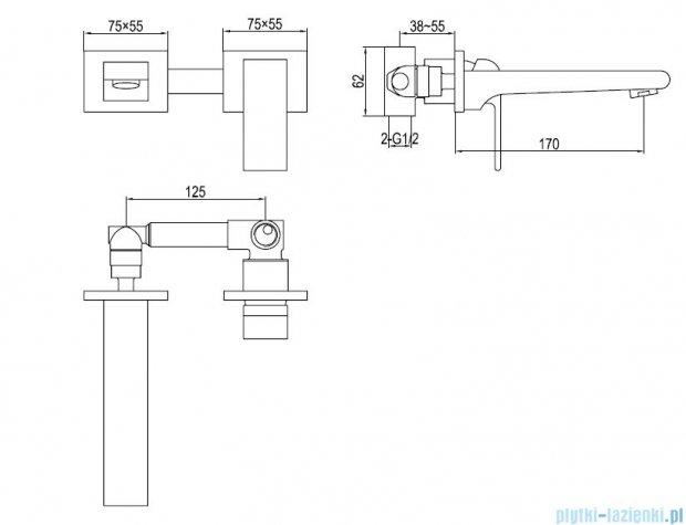Kohlman Saxo podtynkowa bateria umywalkowa QW180S