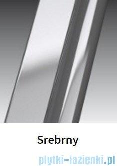 Novellini Drzwi do wnęki z elementem stałym GIADA G+F 90 cm prawe szkło przejrzyste profil srebrny GIADNGF90D-1B