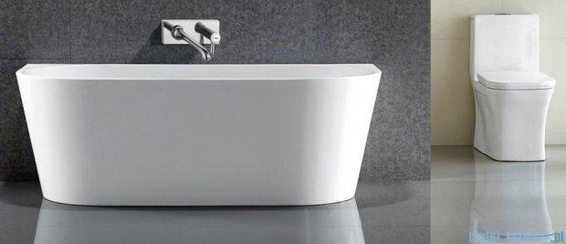 Massi Wall 150 wanna wolnostojąca przyścienna 150x75 cm biała MSWA-6815B