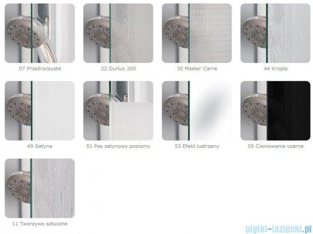 SanSwiss Eco-Line Drzwi 2-częściowe Ecp2 80cm profil biały szkło przejrzyste ECP208000407
