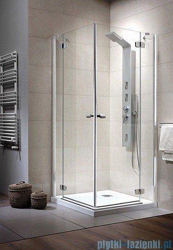 Radaway Kabina prysznicowa Fuenta KDD 100x80 szkło brązowe 381063-08L