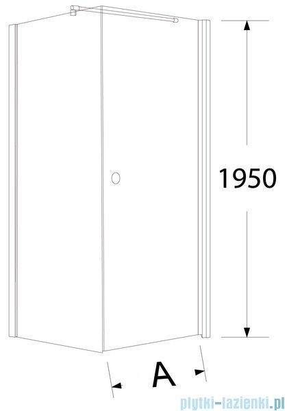 Sea Horse Fresh Line narożna z powłoką kwadratowa drzwi pojedyncze lewa  90x90 cm BK259TL+