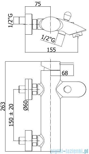 Paffoni Bateria wannowa Berry chrom BR022CR
