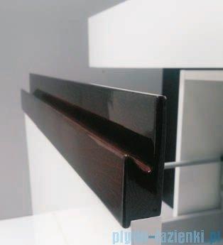 Antado Combi szafka prawa z blatem i umywalką Conti biały/ciemne drewno ALT-141/45-R-WS/dp+ALT-B/4C-1000x450x150-WS+UCT-TP-37x59