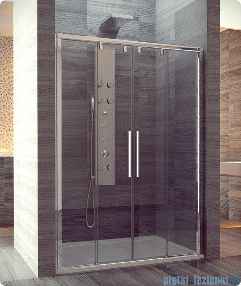 SanSwiss Pur Light S PLS4 SM Drzwi rozsuwane 160-200cm profil biały szkło przejrzyste PLS4SM40407