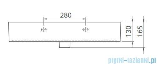 Cerastyle Pinto umywalka 76x46cm meblowa / ścienna 080000-u