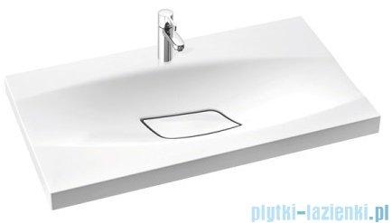 Marmorin Noel 800 umywalka wpuszczana w blat 80x45 bez przelewu i z otworem na baterie biała 580080020011