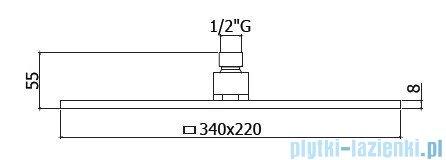 Paffoni  Deszczownica prostokątna 34x22 cm CITY ZSOF091