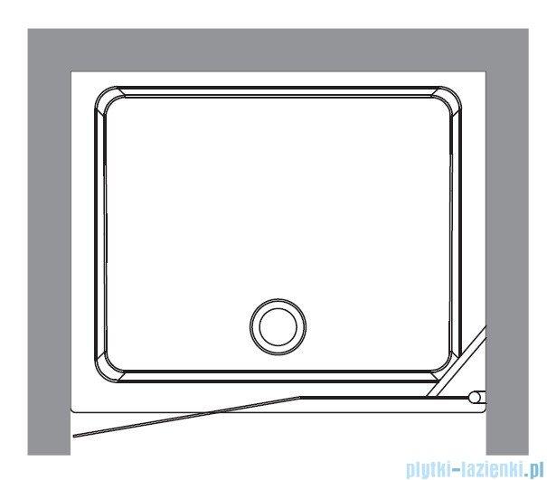 Kerasan Drzwi prysznicowe lewe, szkło przejrzyste profile chrom 92x180 Retro 9140T0