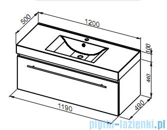 Aquaform Decora szafka podumywalkowa 120cm fiolet 0401-542813