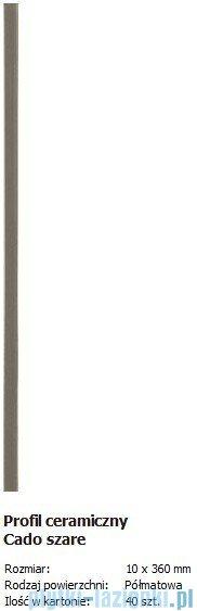 Domino Profil Cado szare 1,0x36