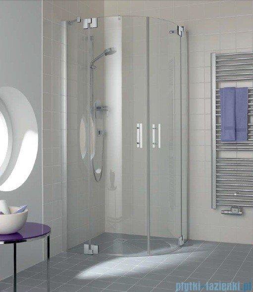 Kermi Filia Xp Kabina ćwierćkolista, drzwi wahadłowe, szkło przezroczyste, profil srebro 90x200cm FXP5509020VAK