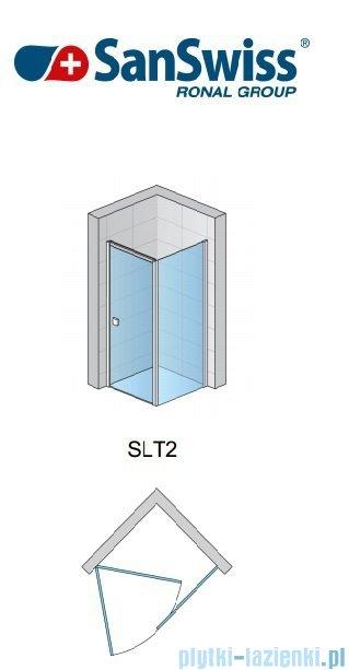 SanSwiss Swing Line SLT2 Ścianka boczna 75cm profil biały SLT207500407