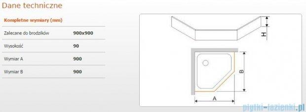 Sanplast Obudowa brodzika OBPK 90x90x9 cm 625-400-0830-01-000