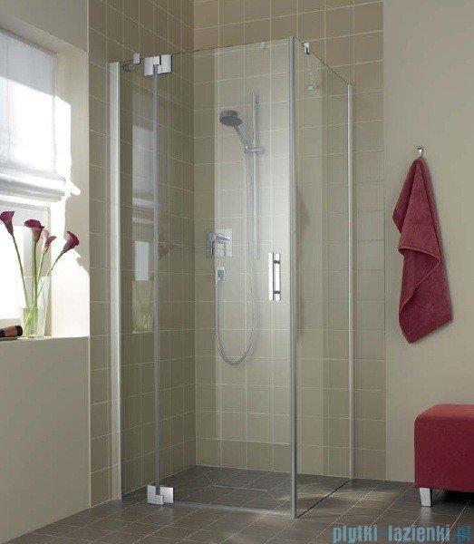 Kermi Filia Xp Drzwi wahadłowe z polem stałym, lewe, szkło przezroczyste, profile srebrne 80x200cm FX1WL08020VAK