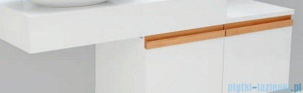 Antado Combi szafka prawa z blatem prawym i umywalką Bali biały/jasne drewno ALT-141/45-R-WS/dn+ALT-B/2R-1000x450x150-WS+UCS-TC-65