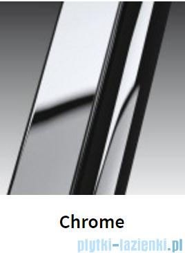 Novellini Drzwi do wnęki z elementem stałym GIADA G+F 144 cm lewe szkło przejrzyste profil chrom GIADNGF144S-1K