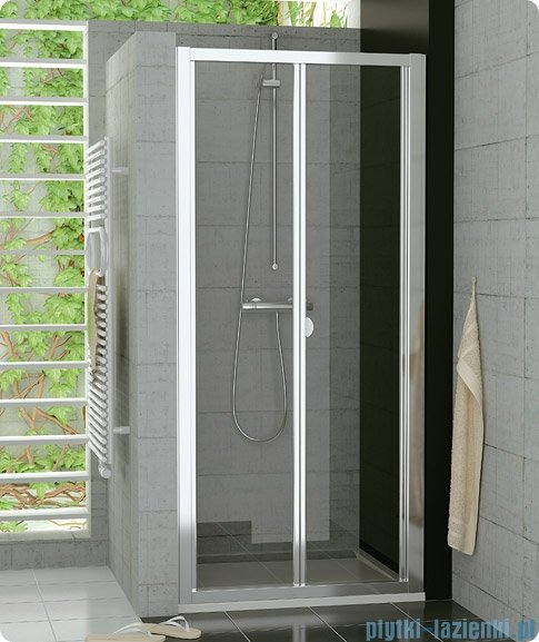 SanSwiss Top-Line Drzwi 2-częściowe 70cm profil połysk TOPK07005007