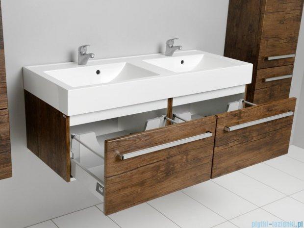 Antado Spektra szafka z umywalką, wisząca 120 stare drewno FDF-442/6GT-50 + FDF-442/6GT-50 + UNAM-1204D
