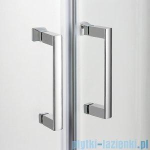 New Trendy Varia kabina prysznicowa asymetryczna 100x80x165 cm szkło grafit K-0130
