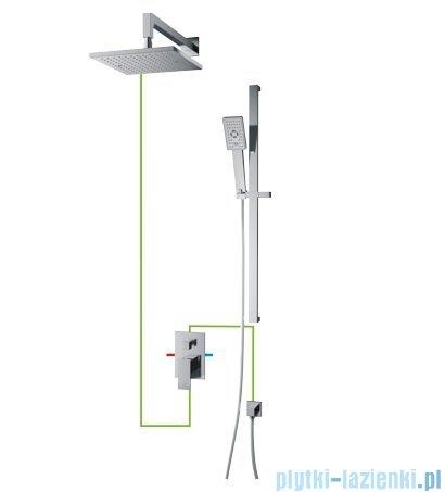 Omnires Fresh podtynkowy zestaw prysznicowy chrom SYSFR11