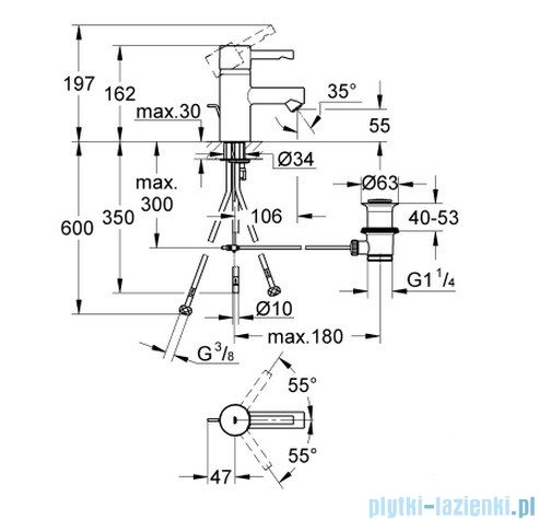 Grohe Essence bateria umywalkowa DN 15 niska 32424000