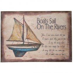 Obraz z żaglówką - Boats Sail On The Rivers - niebieski