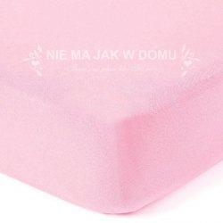 Prześcieradło dziecięce - jersey z gumką - różowe pastelowe
