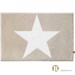 Dywanik łazienkowy Rhomtuft - STAR - biało-beżowy