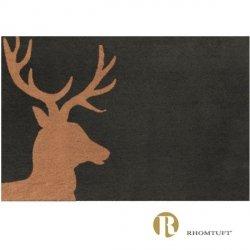 Dywanik łazienkowy Rhomtuft - Lord - ciemno-brązowy