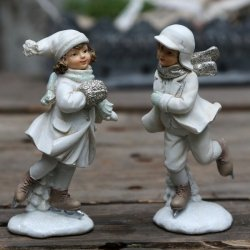 Figurki Chic Antique - Chłopiec i Dziewczynka - 2 szt.