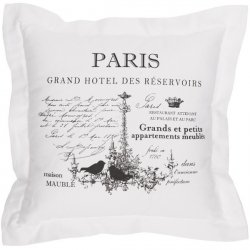Poduszka dekoracyjna French Home - Paris - biała