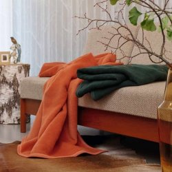 Jednokolorowe koce Biederlack - Orion Cotton - 12 kolorów