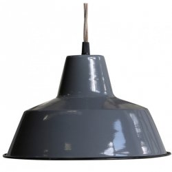 Lampa sufitowa Chic Antique - ENAMEL SCANDI 1 - szara