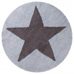 Dywan do prania w pralce - Lorena Canals REVERSIBLE STAR - brązowo-błękitny