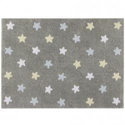 Dywan do prania w pralce - Lorena Canals TRICOLOR STARS - Azul