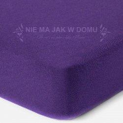 Prześcieradło jersey z gumką - fioletowe ciemne